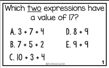 3rd Grade Math Test Prep Activity by Stephanie Sutherland