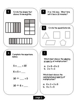 3rd Grade Math Test Prep (Volume 1) by Education