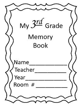 3rd Grade Memory Book for End of Year Using Reading