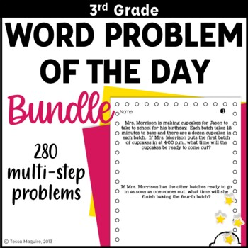 3rd Grade Problem of the Day Story Problems- BUNDLE by