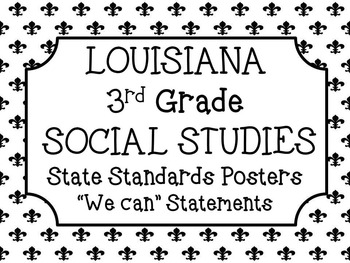 3rd Grade Social Studies Louisiana Standards Posters by