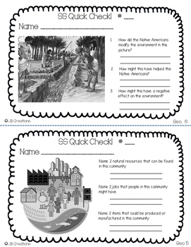 3rd Grade Ohio Social Studies Review Activity Set (32