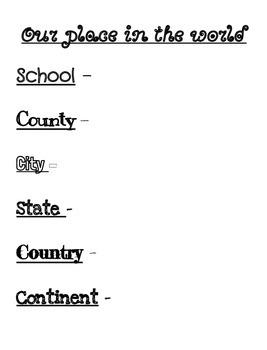 3rd Grade Social Studies Unit 1 BUNDLE by Stephanie
