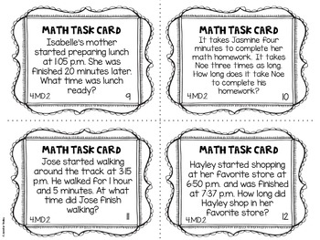 4.MD.2 4th Grade Math Task Cards (Word Problems with