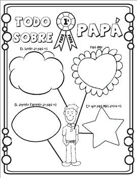 4 Spanish Father's day printables! 4 Actividades del día