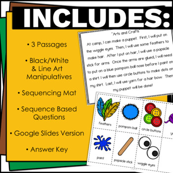 Sequencing Stories with Pictures Activity for 1st and 2nd