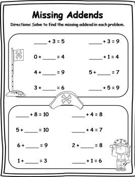 40+ Missing Addends Activities (CCSS Aligned) by Klever