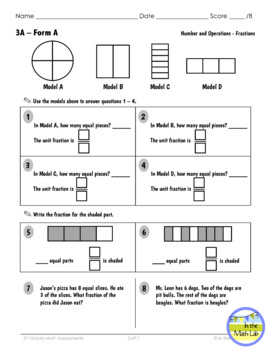 3rd Grade Math Assessments for ALL Common Core Standards