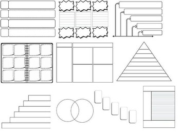 44 Editable Graphic Organizers Interactive Notebook