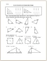 45 45 90 Triangle Worksheet - wiildcreative