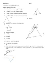 4.6 Isosceles and Equilateral Triangles WS by MRS V | TpT