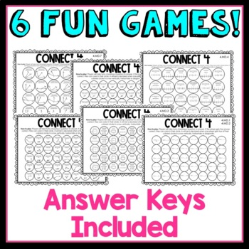 4th Grade Connect 4 Math Games! Measurement and Data
