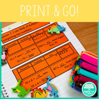 Engage New York Math Aligned Interactive Notebook: Grade 4
