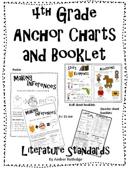 4th Grade Literature Anchor Charts and Booklets by Amber