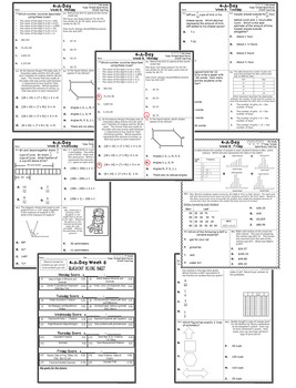 4th Grade Math TEKS: 4 A Day STAAR Prep Bundle of Weeks 1