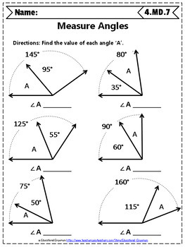 4th Grade Measuring Angles Worksheet - DIY Worksheet