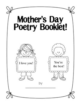 MOTHER'S DAY Mini Poetry Unit for 4th grade (adaptable for