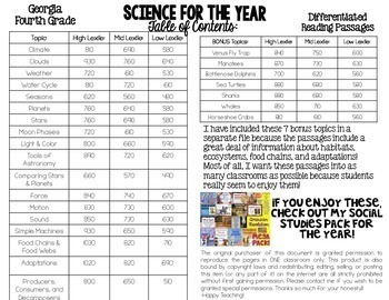Science Nonfiction Differentiated Texts & Passages (Earth
