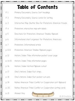 4th Grade Social Studies Interactive Notebook: Ohio's