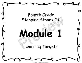 4th Grade Stepping Stones 2.0 I Can Statements for Modules