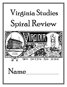 4th Grade Virginia Studies SOL Review Booklet by Lauren