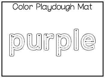 5 All About the Color Purple No Prep Tracing Preschool
