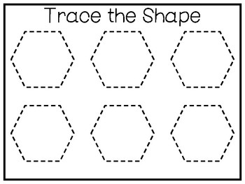 5 All About the Shape Hexagon No Prep Tracing Worksheets