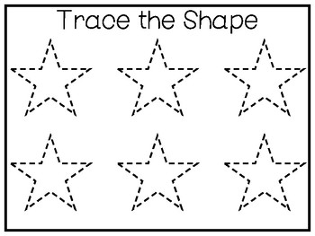 5 All About the Shape Star No Prep Tracing Preschool