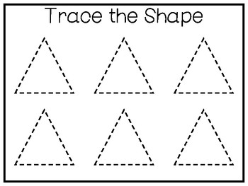 5 All About the Shape Triangle No Prep Tracing Worksheets