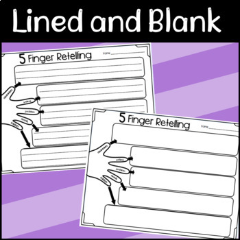 5 Finger Retelling Graphic Organizers! by Designed by