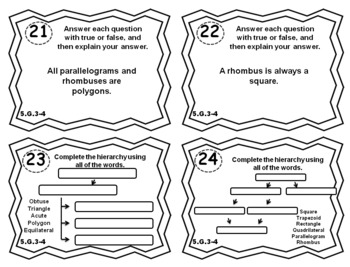 5.G.3 Task Cards 5.G.4 ⭐ Shapes Task Cards by Educational