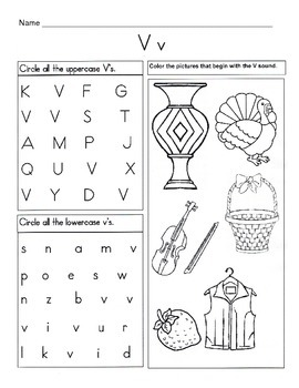 5 Letter V Worksheets / Alphabet & Phonics Worksheets