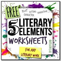 5 Literary Elements Worksheets by Stacey Lloyd | TpT