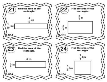 5.NF.4 Task Cards: Multiplying Fractions Task Cards 5NF4