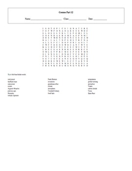 5 Puzzle Cosmos: A Spacetime Odyssey Episode 12 Worksheet