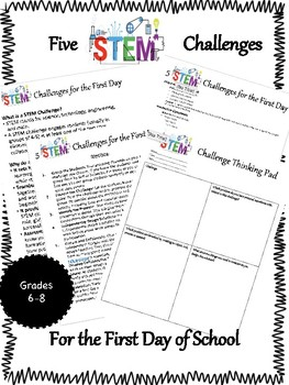 5 STEM Design Challenges for the First Day of School