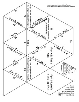 5 Triangle Puzzles for Middle School Math Ratios