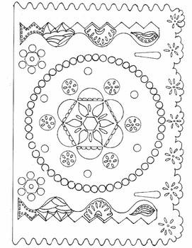 5 de Mayo Papel Picado Coloring Sheets by Mi Rinconcito de