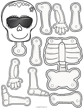 Build a Skeleton Craft and Writing Activity by Srta