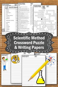 Scientific Method Worksheet, Science Crossword Puzzle & 10