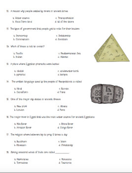 50 Question 6th Grade World History Final Exam {History