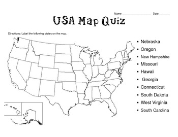 50 States Map Quizzes (8 different templates) by Heather