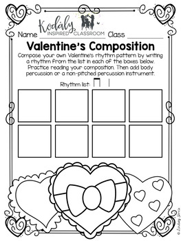 Valentine's Day Composition Pages and Mini Lessons by
