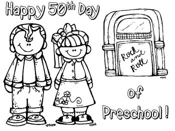 50th Day of School FREEBIE! {Coloring, Counting