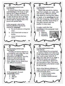 5th Grade Context Clues, 40