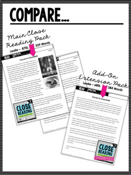 5th Grade Close Reading- Informational *Add-On Extension