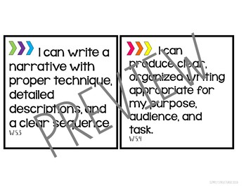 5th Grade ELA CCSS Standards Wall (Plus FREE Banner) by
