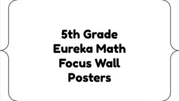 5th Grade Eureka Math Focus Wall by Bridget ONeil Hopkins