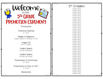 5th Grade Graduation or Promotion Virtual Ceremony by A