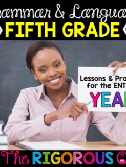 5th Grade Grammar and Language Interactive Notebook